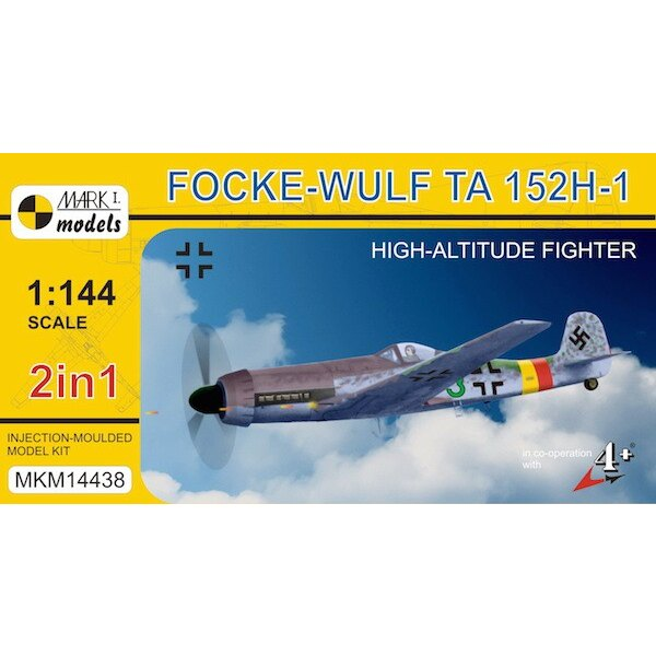 Focke-Wulf Ta 152H-1 'High-altitude Fighter'. Two injection-moulded kits are supplied in this box and each kit contains 26 parts