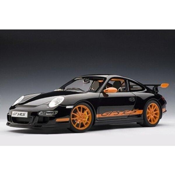 PORSCHE 997 GT3 RS NOIR/ BANDES ORANGES