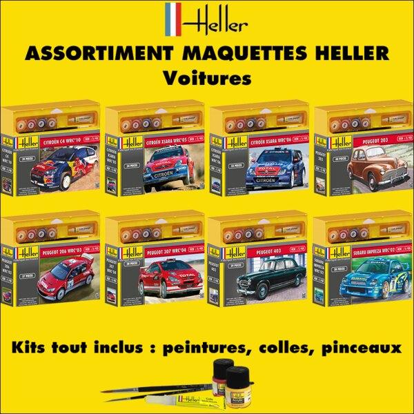 Heller - 20 voitures - ASSORTIMENT 20 MAQUETTES DE VOITURES