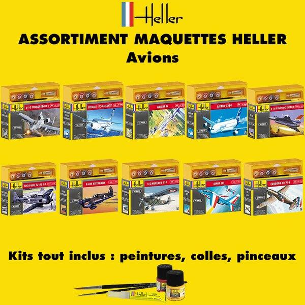 Heller -30avions - ASSORTIMENT 30 MAQUETTES D'AVIONS