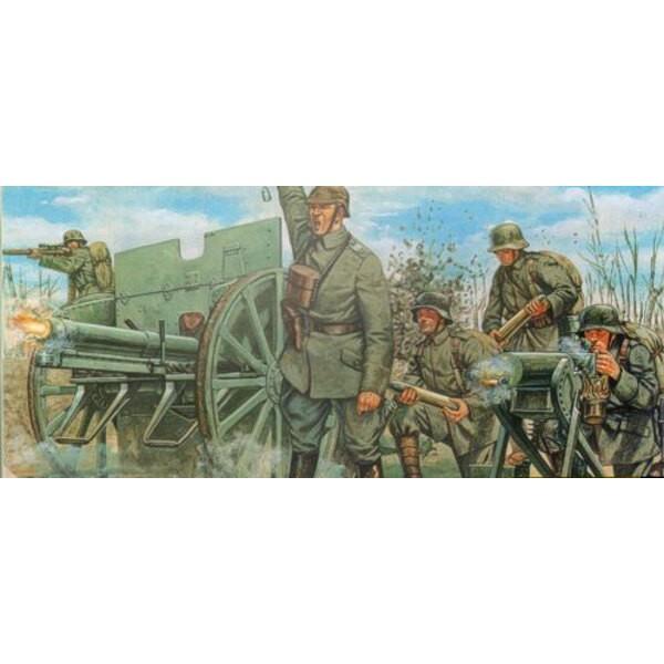 Artillerie allemande de 1ère GM & canon de 76mm