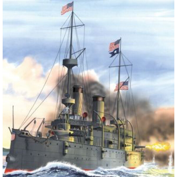 USS OLYMPIA 'Standard Edition' 1/232 Scale. United States Navy protected cruiser and Commodore Dewey's flagship at the pivotal b