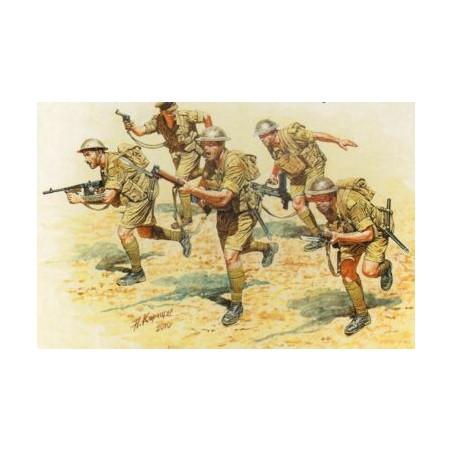 Infanterie britannique en action Afrique du Nord de la 2ème GM