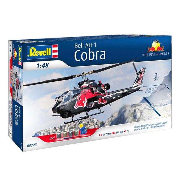 Box Ah-1F Cobra Flying