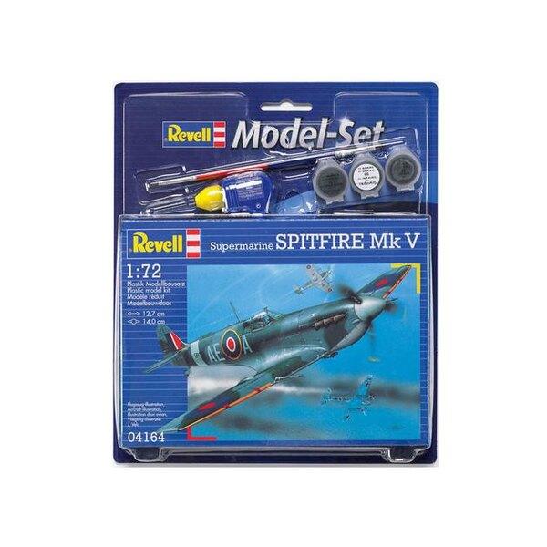 Spitfire Mk.V Model Set - coffret contenant la maquette, les peintures, pinceau et colle