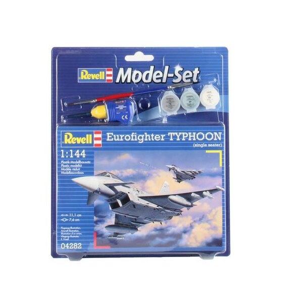 Eurofighter Typhoon Set - coffret contenant la maquette, les peintures, pinceau et colle