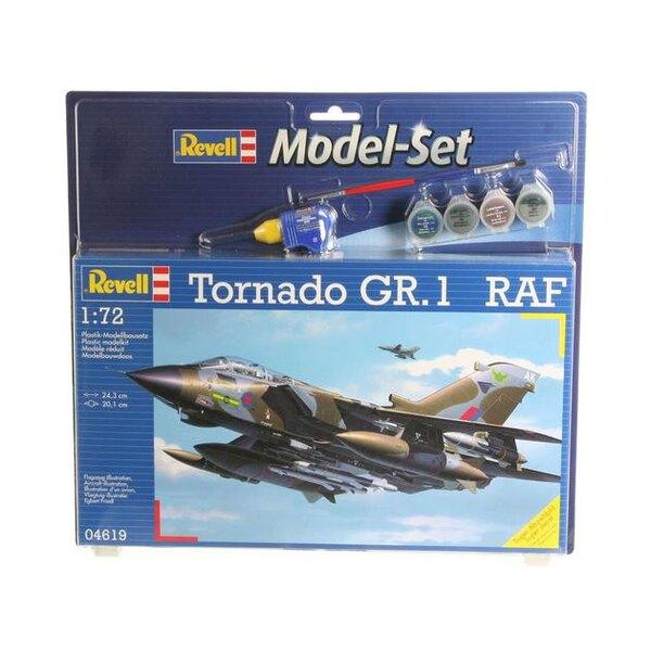 Tornado Gr.1 Raf Model Set - coffret contenant la maquette, les peintures, pinceau et colle