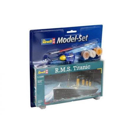RMS Titanic Model Set - coffret contenant la maquette, les peintures, pinceau et colle