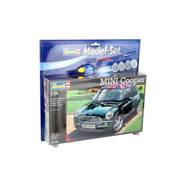 Mini Cooper Model Set - coffret contenant la maquette, les peintures, pinceau et colle
