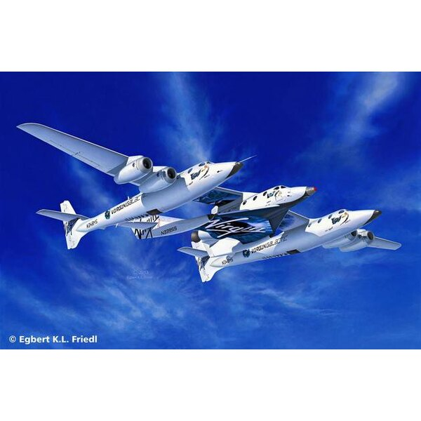 VIRGIN Space Ship Two & Carrier White Knight Two. Due Jan 2013
