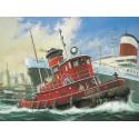 bateau de remorquage de port