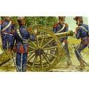 artillerie de ligne à cheval française napoléonienne : 4 canons et 24 équipages.