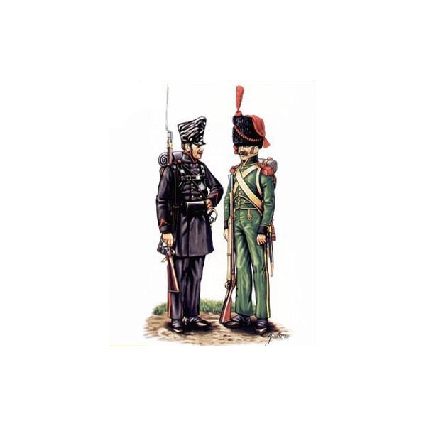 Lutzow Freikorps et grenadiers de Nassau