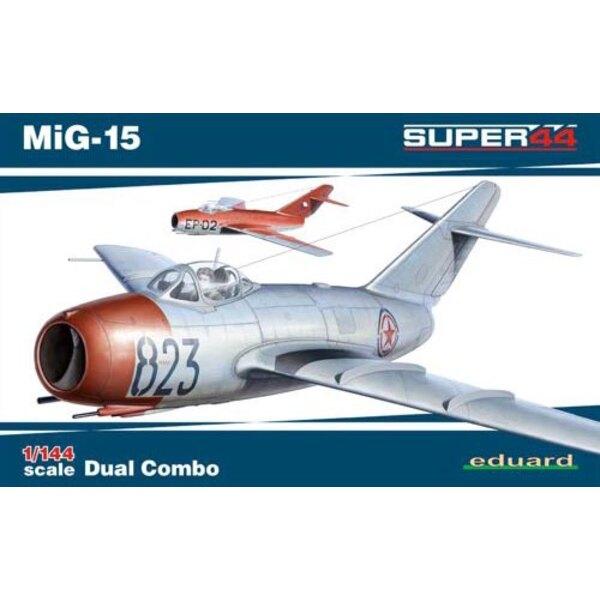 Mikoyan MiG-15 Double Combo Eduard plastique (2014 outil), autocollants imprimés par Eduard, 6 options de marquage.Masque, inst