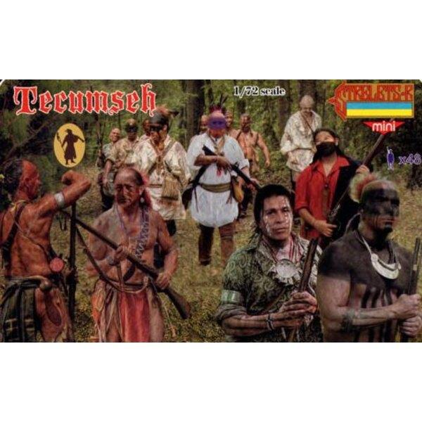 Tecumseh 1812. Tecumseh était un chef amérindien de la Shawnee et une grande confédération tribale qui a opposé les États-Unis p