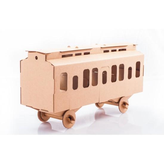 leolandia 03023 voiture voyageurs maquette en carton le plus grand choix avec. Black Bedroom Furniture Sets. Home Design Ideas