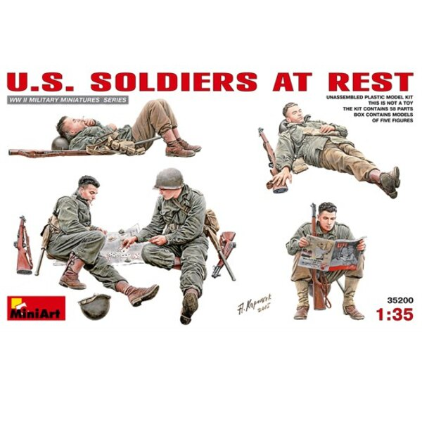 US Soldiers at Rest