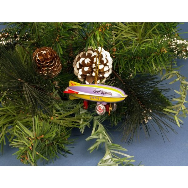 Zeppelin Train Tree ornament / toy hanging tole