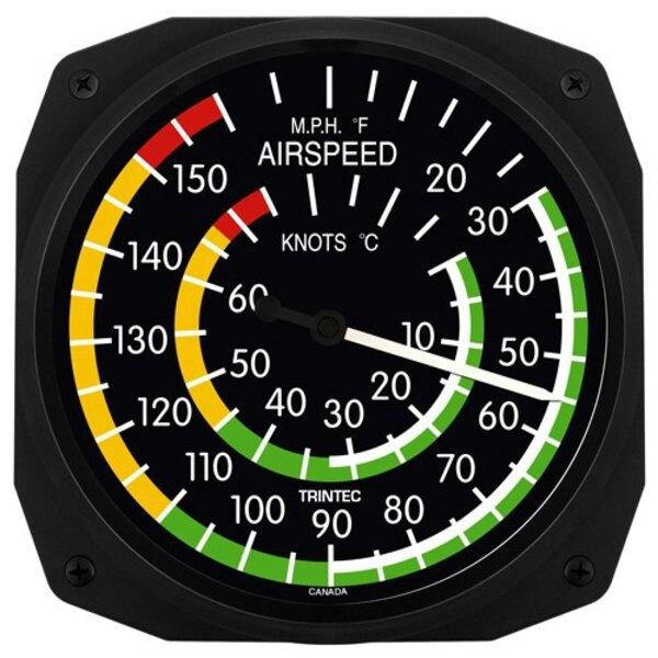 Velocidad aérea Classic Pared Termómetros & C ° F 25x25cm