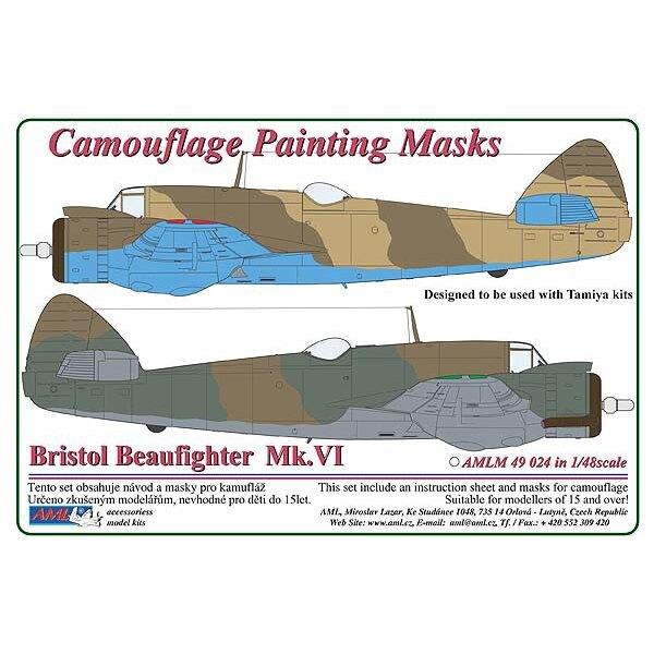 Bristol Beaufighter Mk.VI - 2 Variant masque de peinture de motif de camouflage (conçu pour être utilisé avec les kits Tamiya