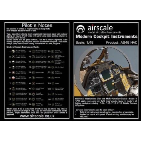Décal MODERNE ensemble JETS Cockpit Instrument DecalsEach comprend