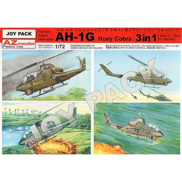 De Bell AH-1G Huey Cobra (carottes seulement), 3 séries, pas décalcomanies etc, pièces en plastique ne ...