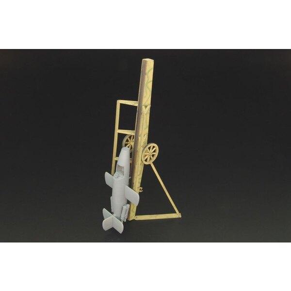 Bachem Ba 349A 'Natter' rampe / remorque - résine kit / PE de projection rampe en bois Bachem-Natter (conçu pour être utilisé av