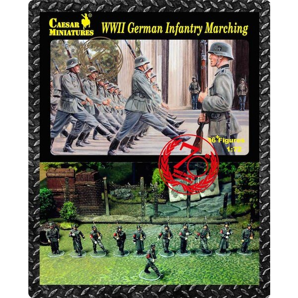 German Infantry Marching (WWII) x 36 figures
