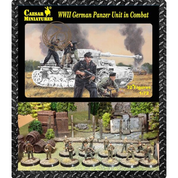 German Panzer Unit in Combat (WWII) x 32 figures (figures only. no background equipment)