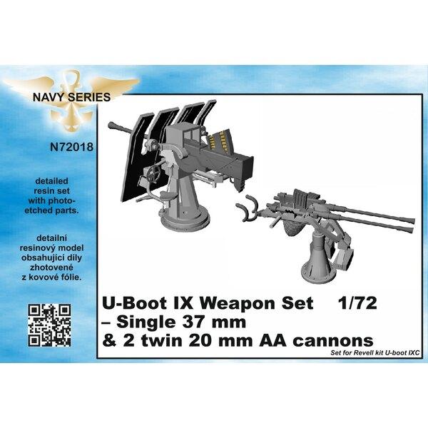 Tipo de conjunto de armas IXC - solo 37 mm y 20 mm AA cañones [diseñado para ser utilizado con los kits de Revell) (U-Boot / U-B