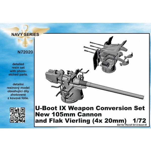Tapez IXC conversion d'arme set - nouvelle 105mm canon et Flak Vierling 4 x 20mm [conçu pour être utilisé avec les kits Revell)