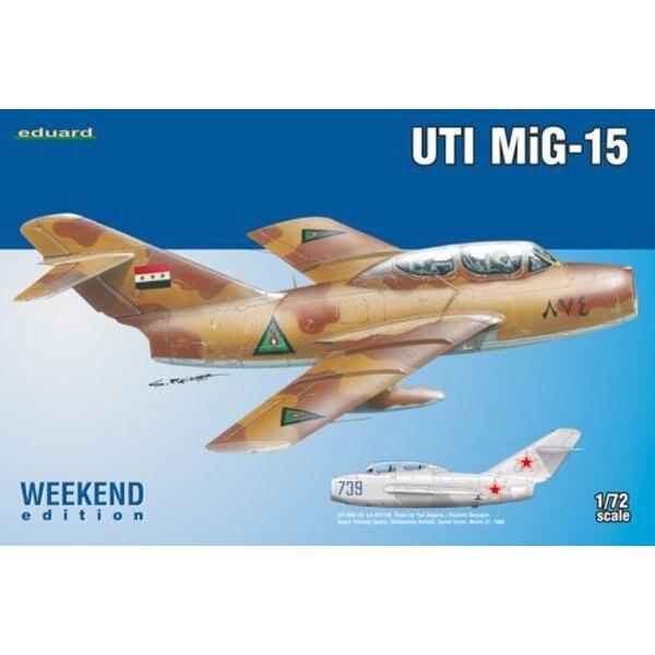 Mikoyan MiG-15UTI Eduard plastique (2015 outil), autocollants imprimés par Eduard, 2 options de marquage.NO PE, NO masque, NO r