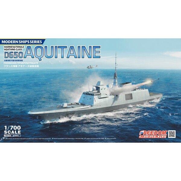 fragata multipropósito D650 Aquitania con partes grabadas