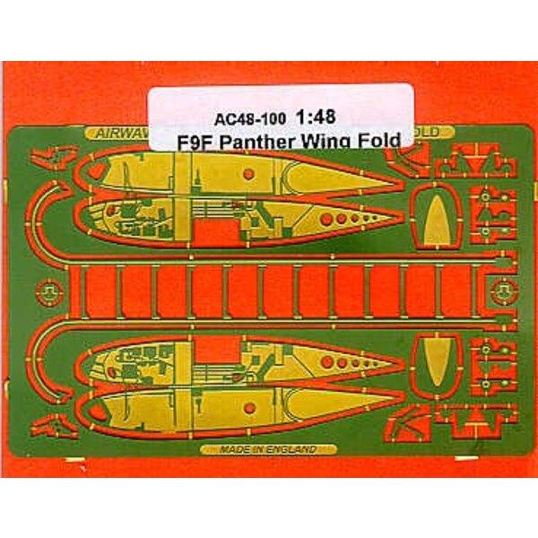 Grumman F9F Panther : charnières d'ailes repliables (pour maquettes Monogram)