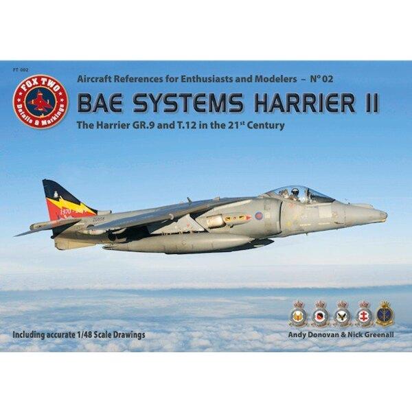 Livre Le BAE Systems Harrier II - Le GR.9 et T.12 dans le paysage 21 CenturySized A4, softcover, texte anglais et allemand, 240