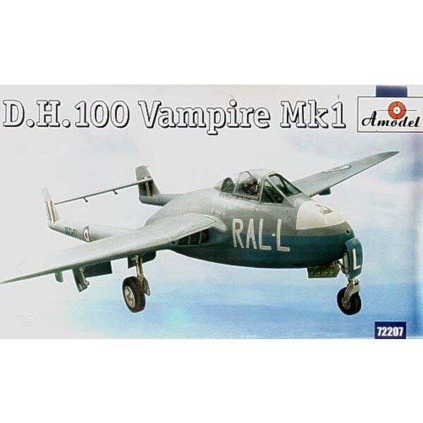 de Havilland DH 100 Vampire Mk.1. (nouveau moule) Avec décalques pour 3 avions TG297 ZY-C 247 1946 Sqn l'AP-V de VF306 130 Sqn O