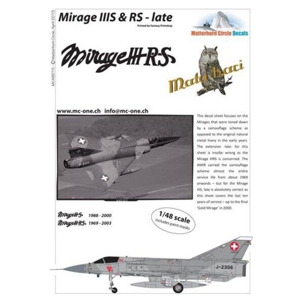 Décal Dassault Mirage IIIS & RS fin [Dassault Mirage IIIE]