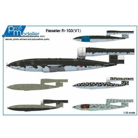 Fieseler Fi-103 (V1 V-1 bombe volante) résine avec pièces gravées et décalcomanies