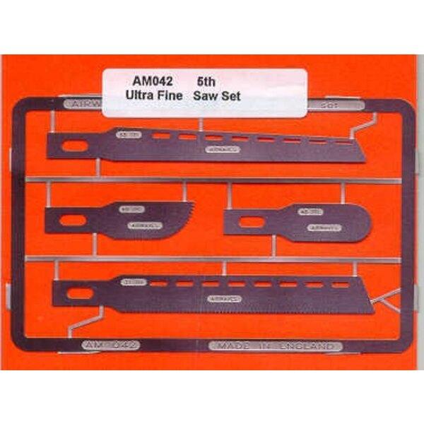 4 Sierras de 5 mil de acero inoxidable. 2 x 7 cm de largo, con 29 TPC y 13 TPC. 2 3,5 cm de largo con 29 TPC y 20 TPC. Use mano