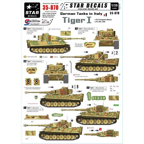 Los tanques alemanes en Italia # 1 - Pz.Kpfw.VI Tiger I. s.Pz.Kp.Meyer, s.Pz.Abt.508.