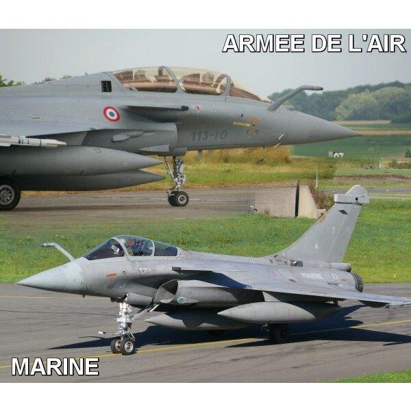 Décal Dassault Rafale B / C / M marques de normalisation Armée de l'Air & Marine