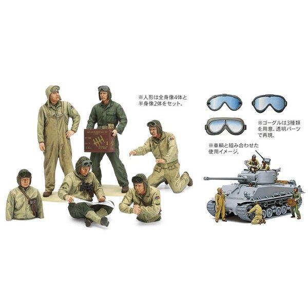 Tanque de EE.UU. Crew teatro europeo.Este conjunto figura representa una tripulación típica que se habría unido a un tanque en