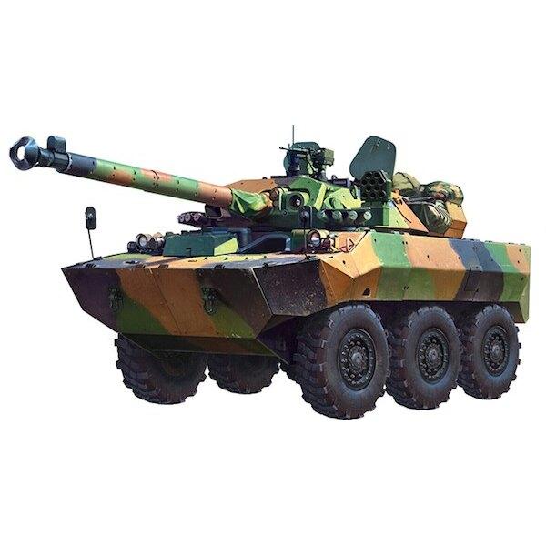 Francés AMX-10RCR La carrocería del vehículo y la torreta están estructura de aluminio de soldadura completa.Es investigado, de
