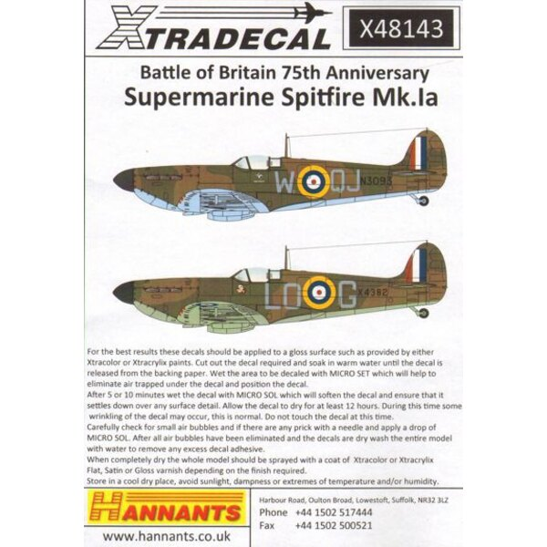 Supermarine Spitfire Mk.Ia Battle of Britain 1940 Pt.1 (6)R6776 QV-H 19 Sqn Ft/Sgt George Unwin RAF Fowlmere - Unknown serial R