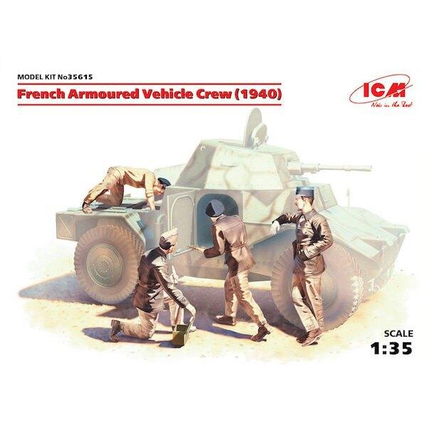 Francés blindada tripulación del vehículo (1940) (4 cifras) (Segunda Guerra Mundial) (100% nuevas bodegas)
