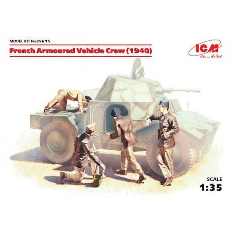 Français blindé Crew Vehicle (1940) (4 chiffres) (Seconde Guerre mondiale) (100% nouvelle détient)