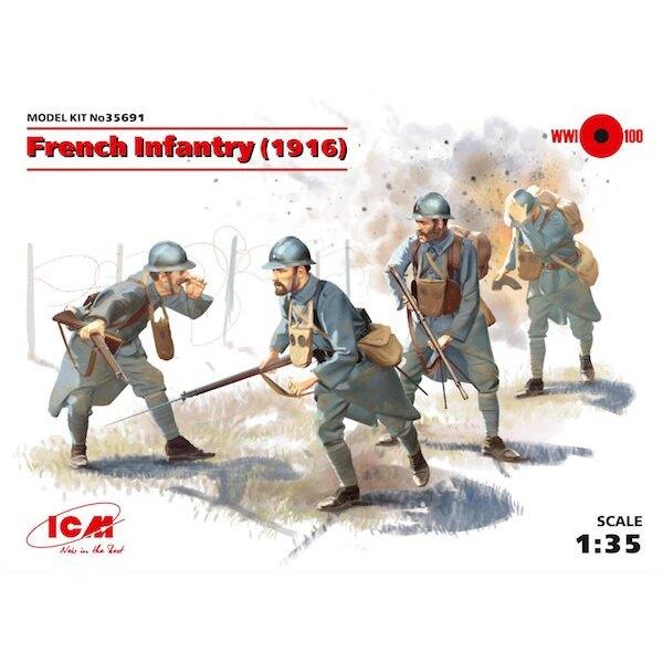Infanterie française (1916) (4 chiffres) (Première Guerre mondiale) (100% de nouveaux moules)