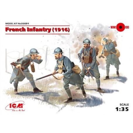 Infanterie Française (1916) de la 1ère GM