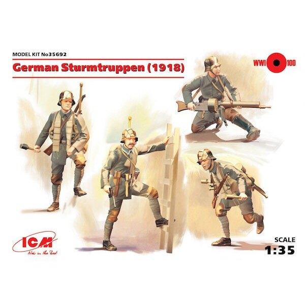 Alemán Sturmtruppen (1918) (4 cifras) (Segunda Guerra Mundial) (100% nuevos moldes)