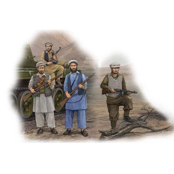 Les rebelles afghans x 4 chiffres, 12 fusils